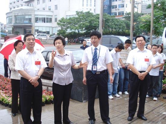 中央组织部部长欧阳淞视察英良泰业律师事务所